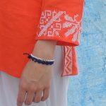 Tunique Palestinienne Orange Détail