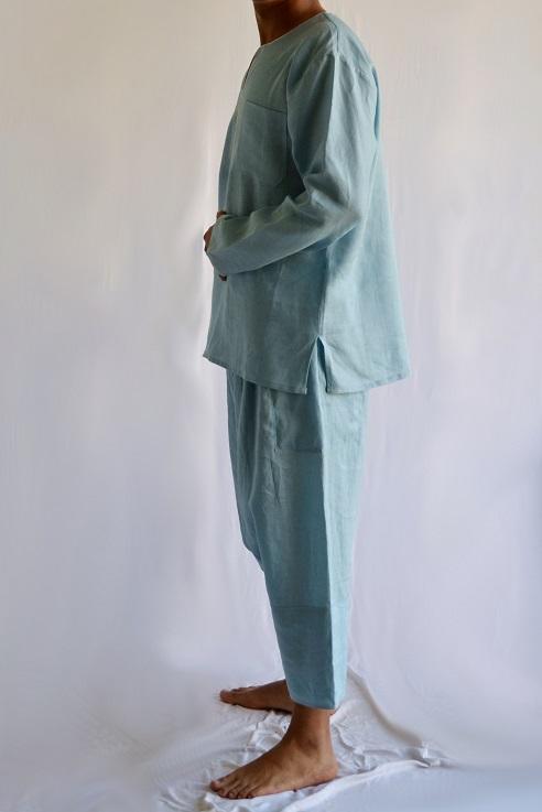Saroual Homme Bleu Gris